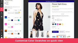 shopify app color swatches product preview
