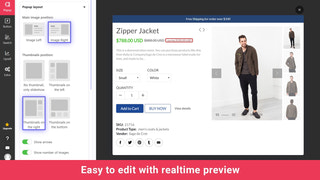 edit quick view with live product preview for shopify app