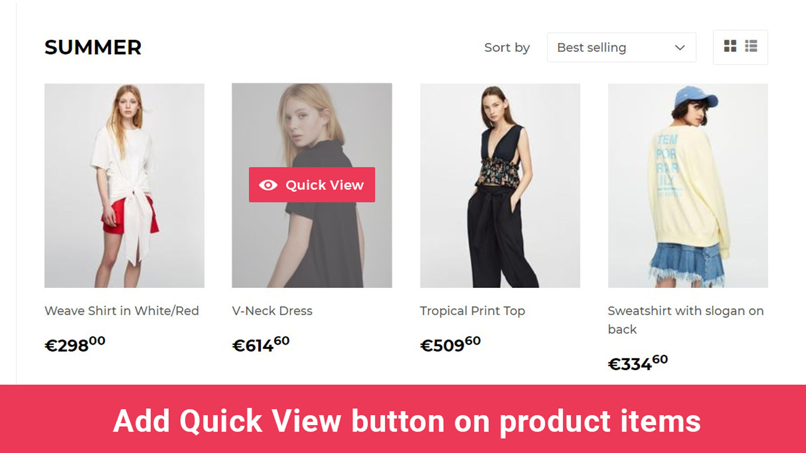 shopify app quick view product preview on product item