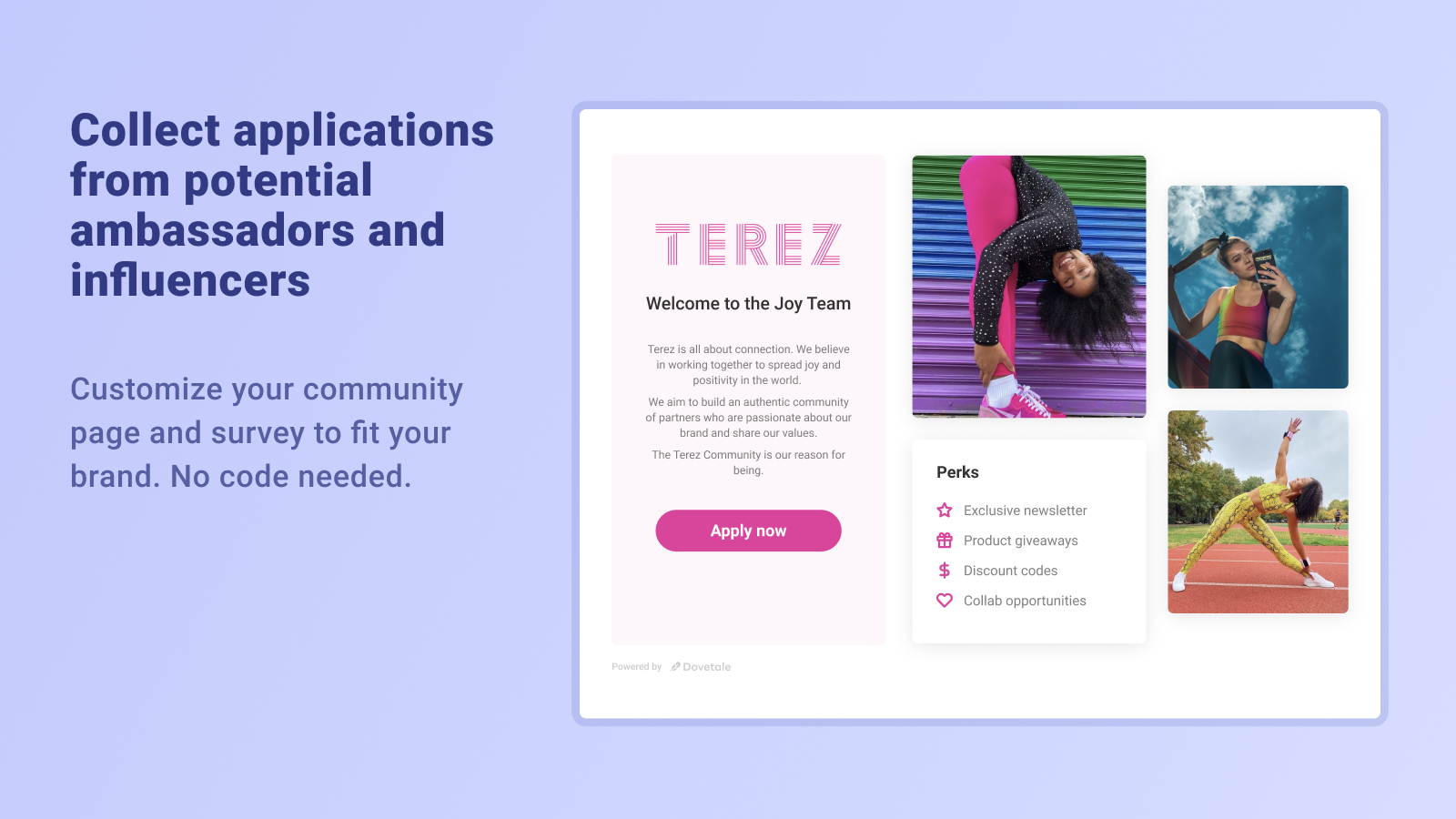 Create a beautiful application page in minutes