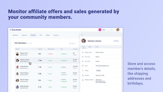 Grow sales and track affiliate revenue from community members