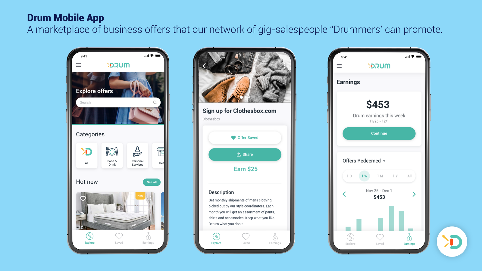 Drum - Where referrers can discover and share offers