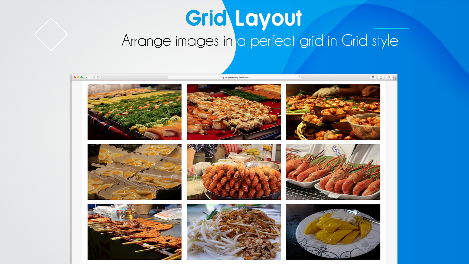 Grid Image Gallery for Shopify with different layouts & captions