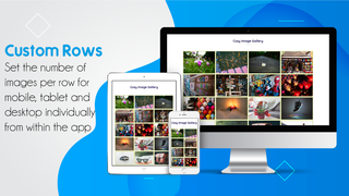 Photos Gallery responsive custom rows for different devices