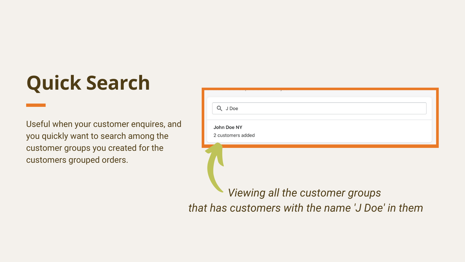 search customer groups