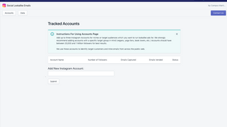 Accounts Page