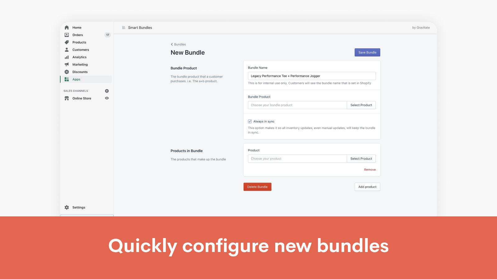 Quickly create new bundles