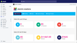 Electric Creations Dashboard