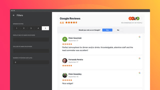 Show Google reviews on your site and use 3 content filters