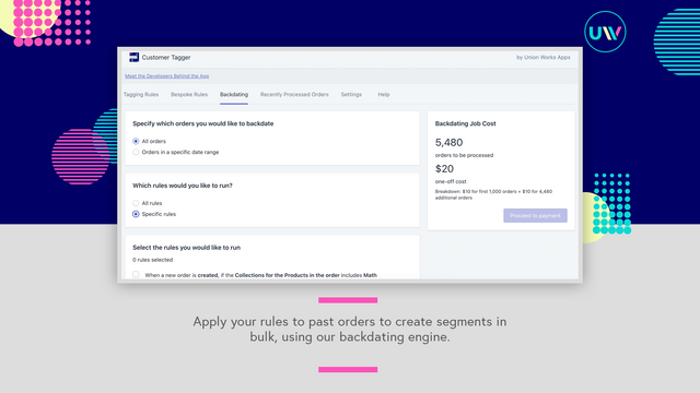 Apply workflows to past customers