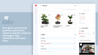 Kaito Editor: Assign question to products, pages and add video.