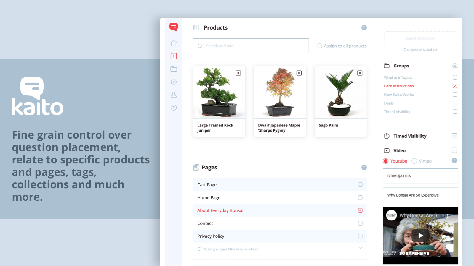 Kaito Editor: Assign question to collections, tags and much more