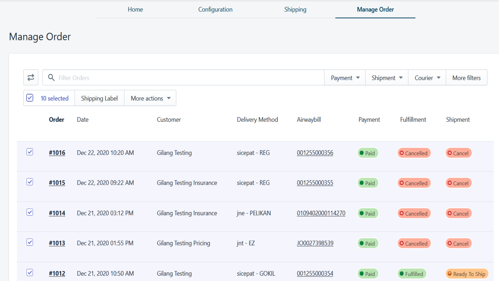 Manage shipping orders easier with shipdeo