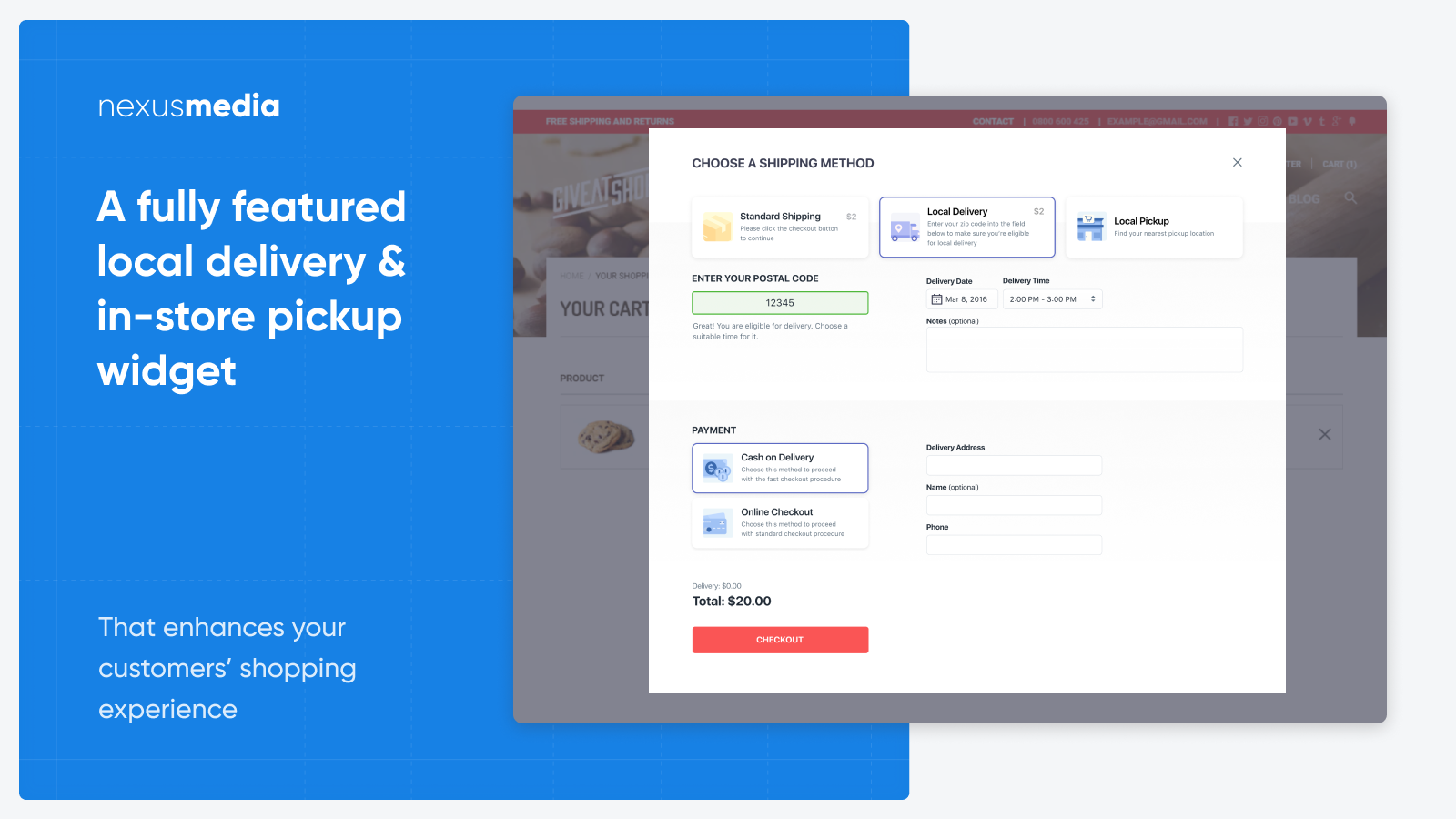 Add local delivery and pickup (takeout) to your store