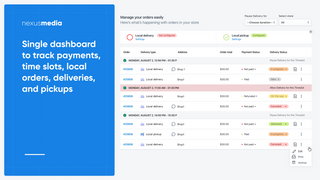 Manage deliveries and takeouts (pickups) with ease