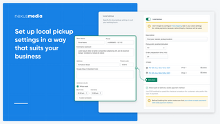 Smart tools for scheduling local pickups (takeout)