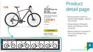 Recolize on Shopify Product Detail Page