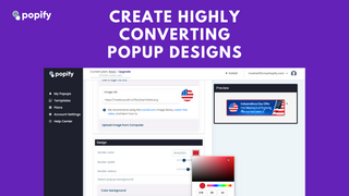 Easily create high converting popup design