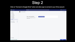 Step 2: Connect app to your Drive account
