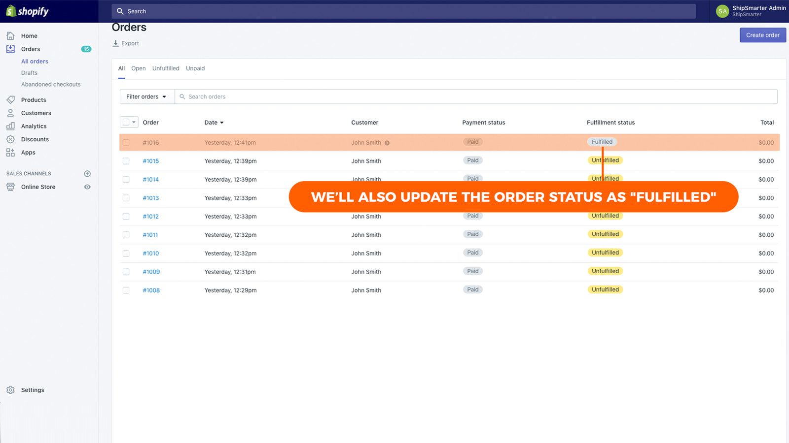 Tracking info will sync with your store & fulfill your orders
