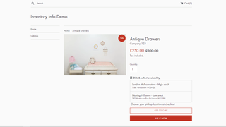 High stock/Low stock message on Product Page - Desktop