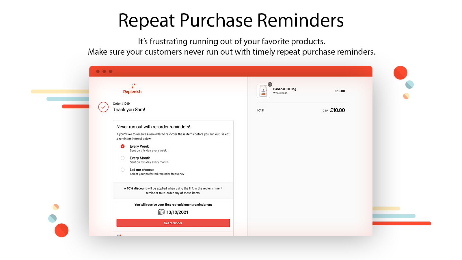 Repeat Purchase Reminders