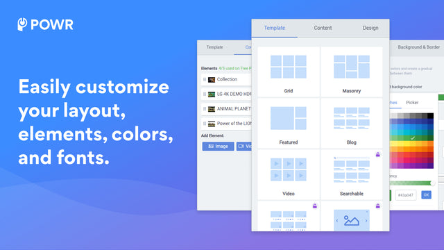 Customize elements to create your perfect Gallery!