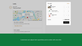 Customers can adjust item quantities and re-order with one click