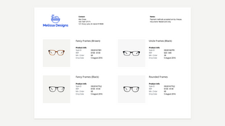 Generate a wholesale line sheet for your business