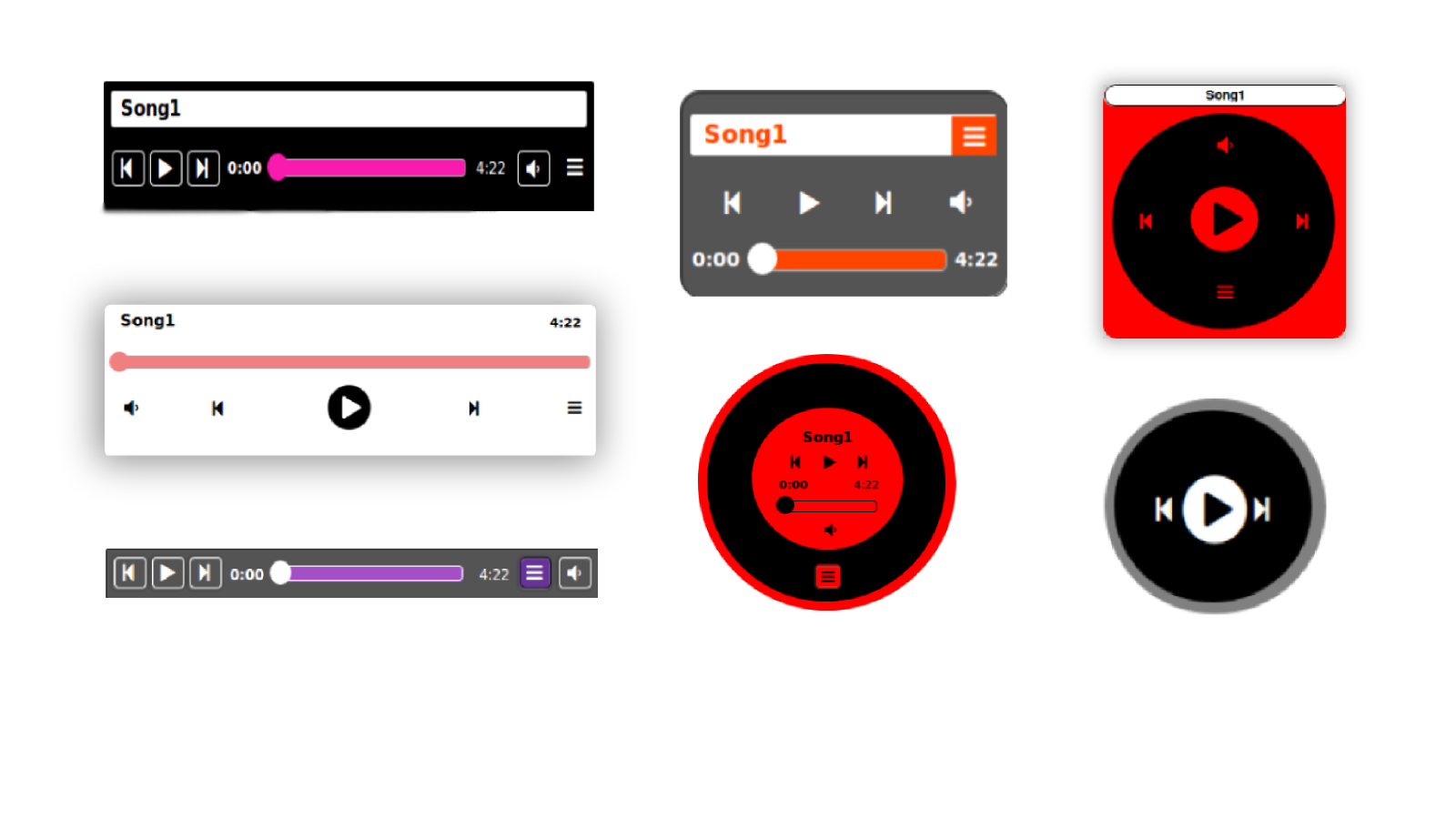 Music player themes