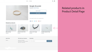 Related Product in product detail page