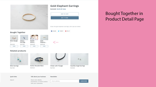 Bought Together in product detail page