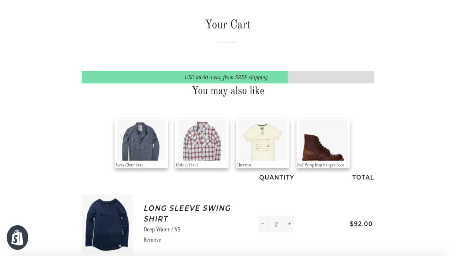 Automatic upsell on cart page