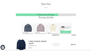 Upsell with add to cart feature