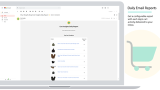 The Cart Insights Daily Report is shown in the Gmail client
