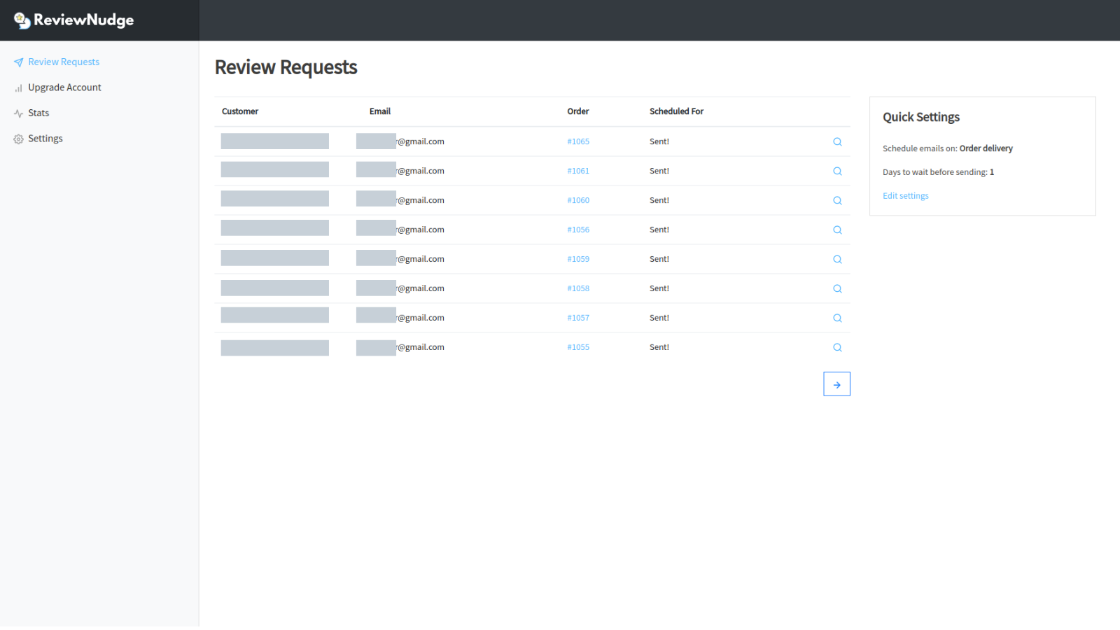 Review Request Dashboard