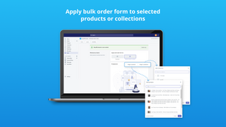 Apply bulk order form to selected products or collections