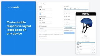 Customizable responsive layout looks good on any device