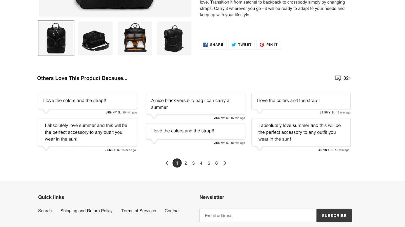 Customizable display on all of your product pages
