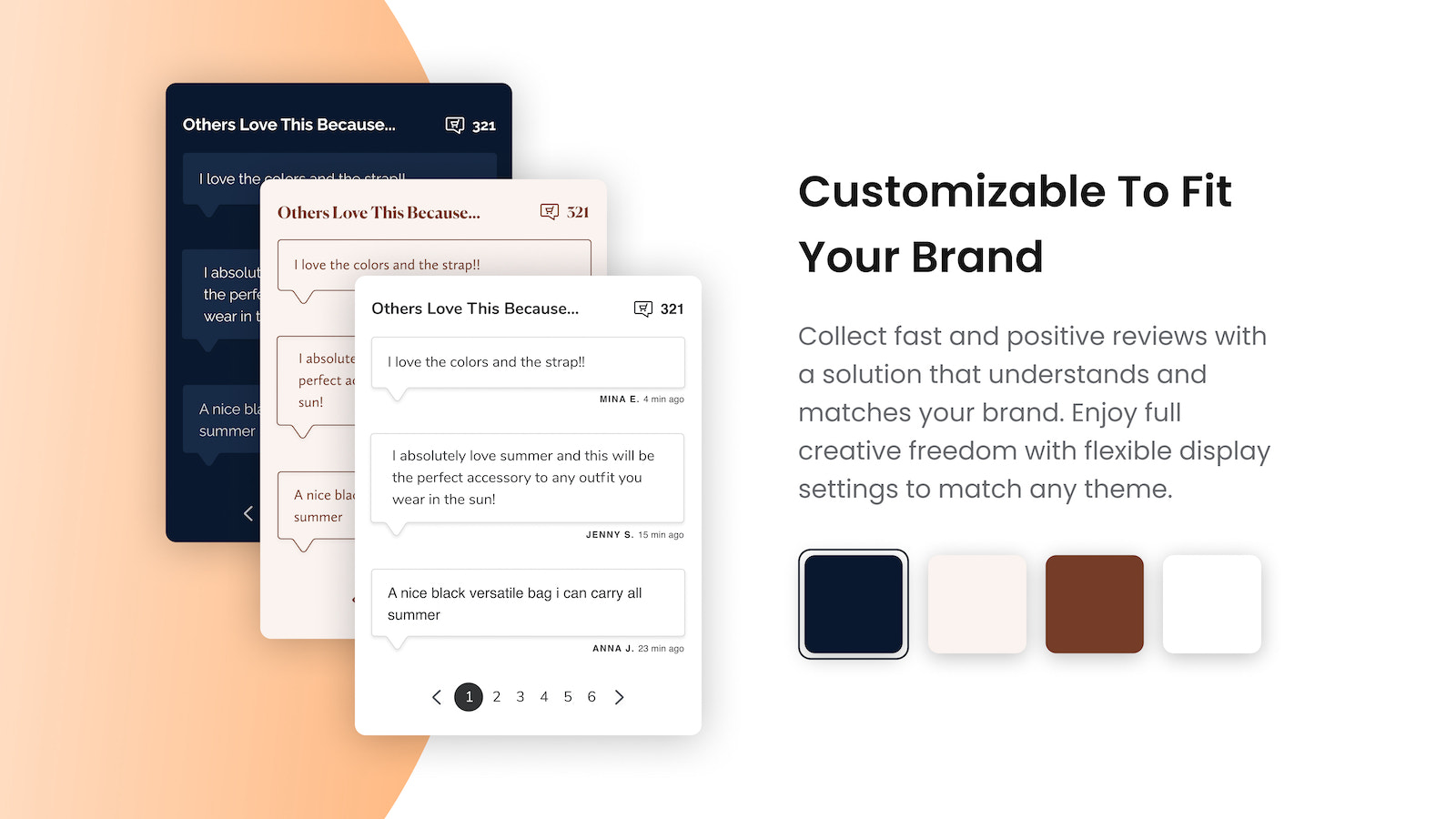 Customizable to your brand. colors and fonts