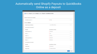 Automatically send payouts as a deposit on QuickBooks Online