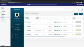 Storefront view of embedded E.BoxSecure's Admin part