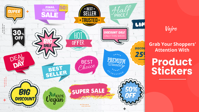 Grab shoppers' attention with product stickers