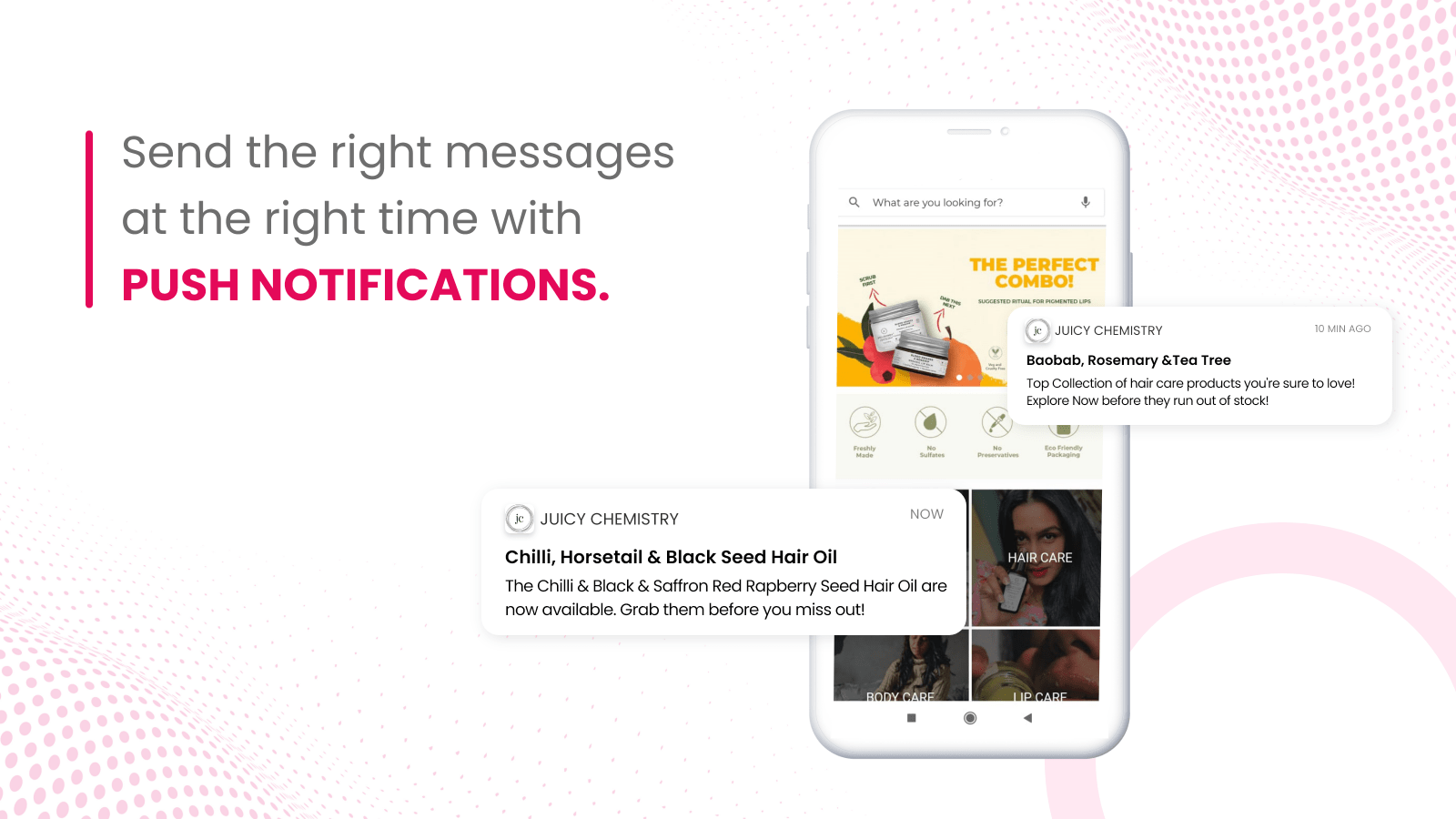 Send the right messages at the right time with push notification