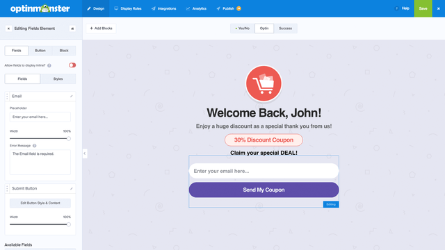 Customize Your Exit Popup & Coupon Popup in our Builder!