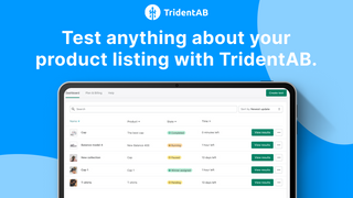 Test anything about your product listing with TridentAB
