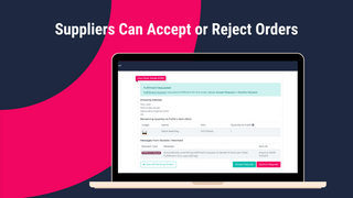 Suppliers Can Accept or Reject Orders + Include Messages