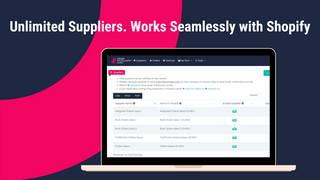 Unlimited Suppliers. Works Seamlessly with ShipStation, EasyPost