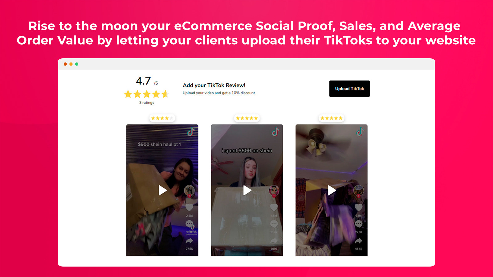 Rise your eCommerce Social Proof and Sales with tiktok reviews