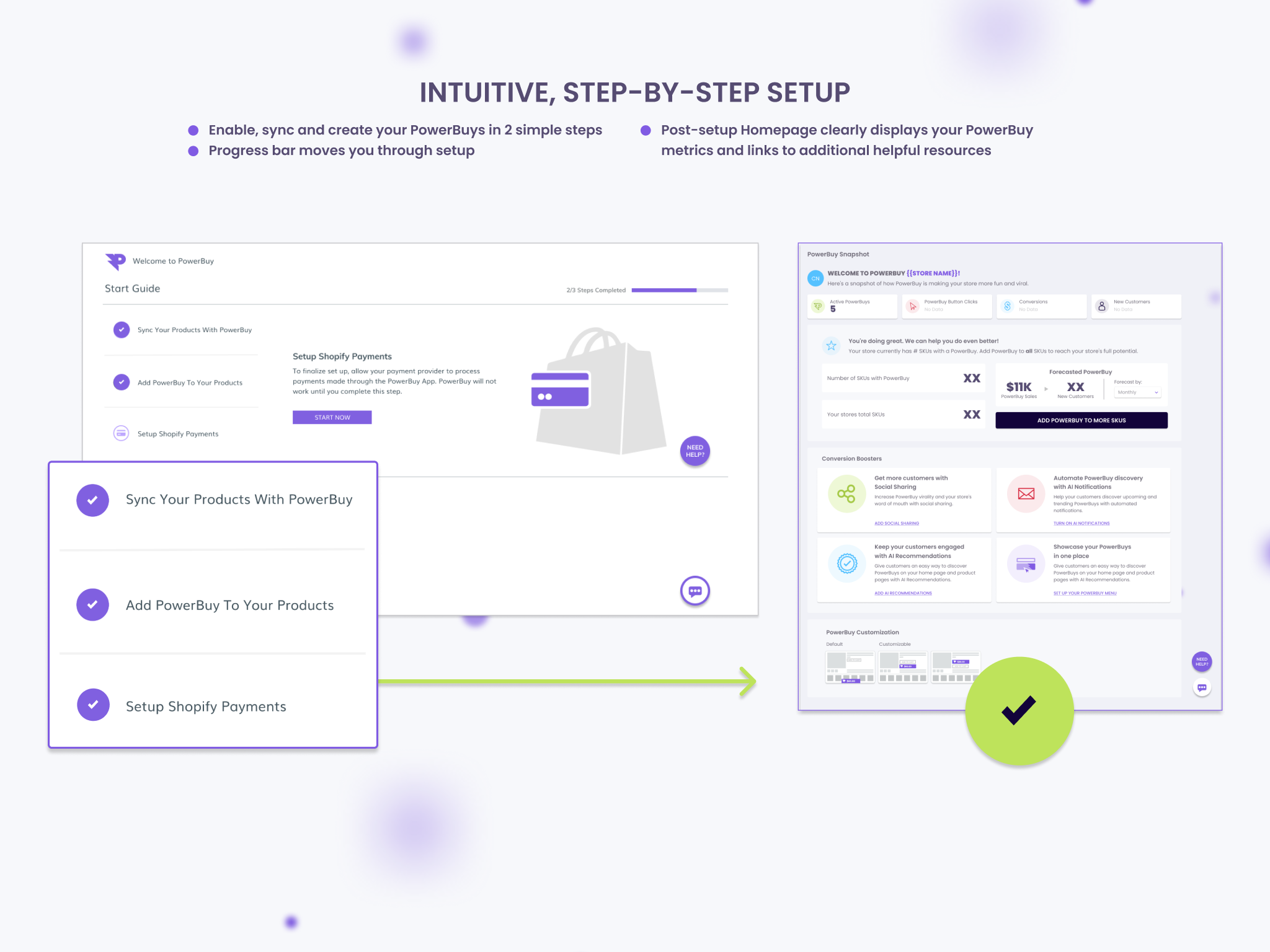 Onboarding and Homepage